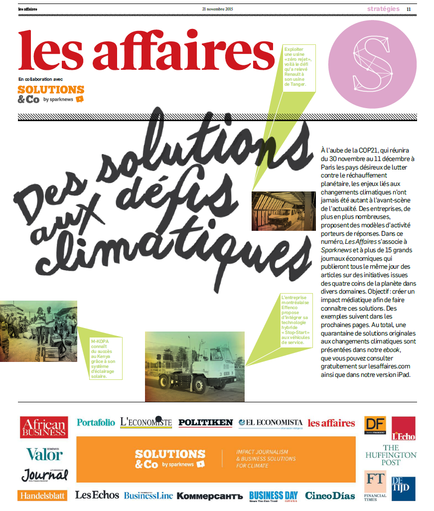 solutions&co sparknews les affaires canada media journal economic climate