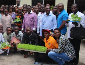 BIC has trained many small-scale farmers on the use of hydroponics to farm and hopes to train 100,000 before 2025 - Credits: BIC Farm Concepts
